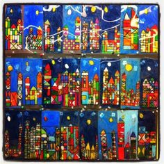 Paul Klee's City Picture - Oil Pastel on Acetate