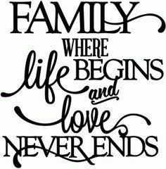 Family where Life begins....