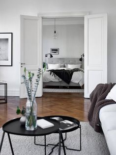 black, white and neutral living