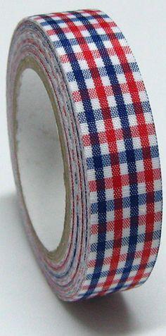 Pattern: check fabric tape.