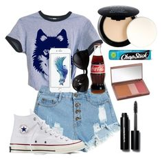 """""""Going to a Skeeters Game"""" by ashlyn91 ❤ liked on Polyvore featuring NYX, Converse, Ray-Ban, Urban Decay, Bobbi Brown Cosmetics and Chapstick"""