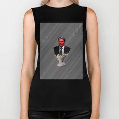 Will Vision Biker Tank  #hannibal #hanniballecter #lecter #willgraham #will #fanart #fandom #tv #telivision #popart #minimal #bust #murderer #horror #scary #thisismydesign #moster #stripes #society6 #richcaspian #bikertank #biker #tank #sleeveless #shirt #tshirt #tee #fashion #style