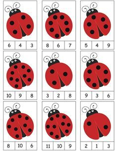 ladybug counting activity More on math and learning in general zentral-lernen.de Source by tinkerbel