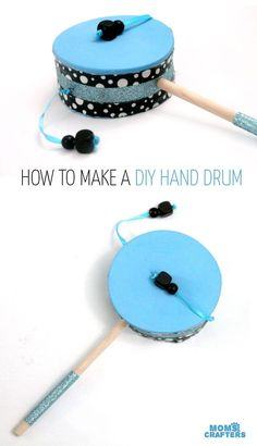 Make this fun diy musical instrument – a hand drum! Such a fun DIY toy for kids,… Sponsored Sponsored Make this fun diy musical instrument – a hand drum! Such a fun DIY toy for kids, and a craft that… Continue Reading → Drums For Kids, Drum Lessons For Kids, Music For Kids, Diy For Kids, Crafts For Kids, Toddler Crafts, Instrument Craft, Homemade Musical Instruments, Making Musical Instruments