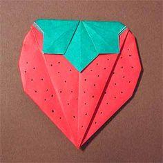 折り紙でいちごの折り方!子供も超簡単な作り方を紹介   セツの折り紙処