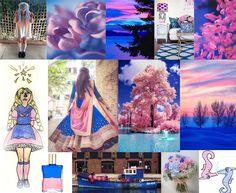 Julie Howlin Aura Soma Inspiration Equilibrium bottle #20 Blue Pink Star Child