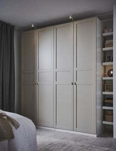 FLISBERGET light beige, Door with hinges, cm. FLISBERGET invites you to enjoy the little things that makes the difference. A three panel door with subtle grooves that needs a closer look to show. Closet Bedroom, Bedroom Decor, Bedroom Built Ins, Built In Bedroom Cabinets, Ikea Bedroom Design, Bedroom Furniture, Mudroom Cabinets, Tv Cabinets, Wardrobe Systems