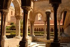 The Cloister of Monreale, Sicily, Italy