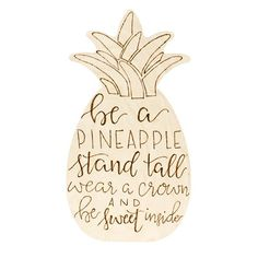 Walnut Hollow Pineapple Shape - This baltic birch plywood shape is durable and ready for any finish. Use paint, stain, or a wood burning tool to add colors or designs. This pineapple shape is the perfect addition to a child's play room or a tropical themed party. Add mineral oil to create a fun serving tray. Add saw tooth hangers to create unique wall decor.