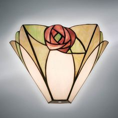 Applique Tiffany / Lampada da Parete Tiffany con Fiori