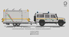 KombiT1: Land Rover Defender - Protezione Civile