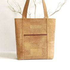 Eco Friendly Bag Made from Cork / Natural Cork by MyCottonHouse