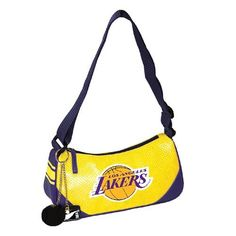 NBA Los Angeles Lakers Helga Handbag, Purple by Concept 1. $19.99. Light and compact design. Printed charm dangles. Screen printed logo. 100% PVC. Perforated PVC material. The Helga is a compact and convenient sporty shoulder bag, great for carrying all your essentials and flaunting your favorite team.. Save 30% Off!