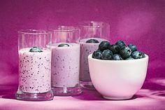 Healthy Coconut Oil Honey Blueberry Shake