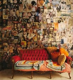 I'd never go that crazy with my wall, but the idea is nice.