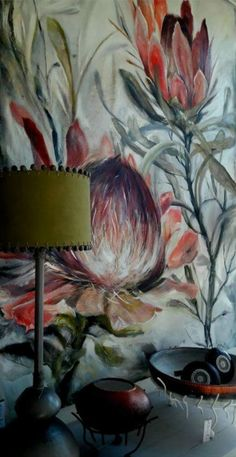 Protea Art, Kahlo Paintings, Oil Painting Abstract, Whimsical Art, Dali, Botanical Art, Box Art, Flower Art, Art Prints