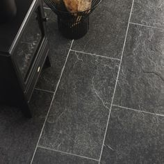 Atomic Grey Quartzite Slate Flooring & Wall Tiles (natural) 600x300mm