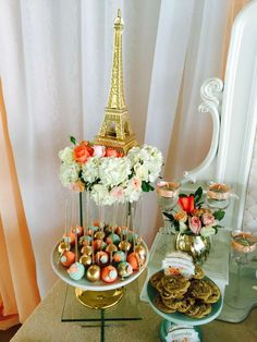 Paris birthday party cake pops! See more party ideas at CatchMyParty.com!