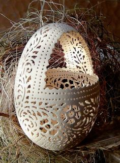 Can you believe this is made from a real egg shell?