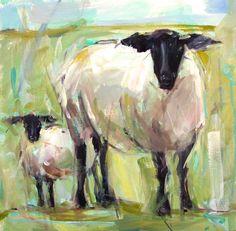 """Sheep"" | Gina Brown Art"
