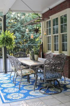 Hang an old ladder over a patio table for a mason jar chandelier.