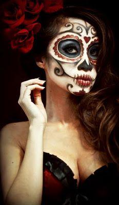 Increíble opción para Halloween!  Esta foto va dedicada a mi  amiga Erika y futura consultora :)! Calavera mexicana   skull face   #maquillajehalloween #calavera