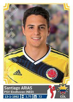 237 Santiago Arias - Colombia - Copa America Chile 2015 - PANINI