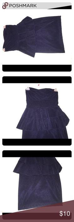 Strapless dress Dark blue strapless dress ,, Dresses Strapless