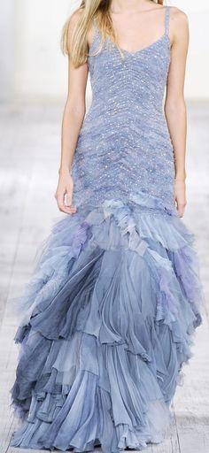 Ralph Lauren Periwinkle blue mermaid evening gown.