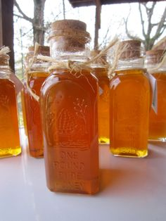 Honey Vintage Glass Bottle 1 Pound by TheHulaHoopingBride on Etsy, $22.00