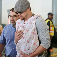 Channing Tatum with baby Everly