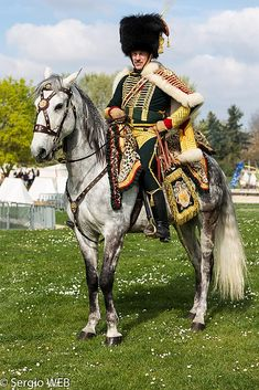 1814 Bataille de France. General Lefebvre-Desnouettes in the colonel major's uniform of the Chasseurs a Cheval.