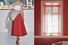 Brazen Simplicity leaves wide options...for this wonderful shade of red; beautiful coral and pearls would be an amazing combination! The neckline of the Saree top cries for a beautiful piece of jewelry!   And for the house, a lovely lacey shawl on the window, tied to one side, and a table or shelf with plants and flowers on top, or a tea cart.....ideas are(c)Spirit ArtWorks, Diane Crockett