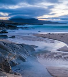 Horgabost at Dusk, Isle of Harris, Outer Hebrides, Scotland, by Robin Goodlad...