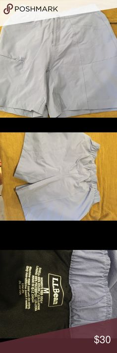 """LL Bean biking shorts with built in pad M LL Bean biking shorts with built in pad as shown in photo. Very nice shorts! Size Medium measurements: waist 14"""" with elastic, length from waist to hem 16 1/2"""", inseam 5 1/2"""" L.L. Bean Shorts"""