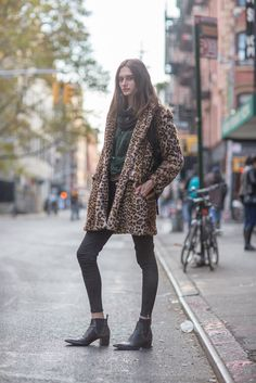 We never met a leopard coat we didn't like — how very Kate Moss, no?
