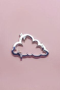 Silver Lining Cloud Enamel Pin