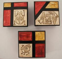 Love these for a grouping Ceramic Painting, Painting On Wood, Diy Canvas, Canvas Art, Mundo Hippie, Modern Art, Contemporary Art, Beaded Boxes, Creation Deco