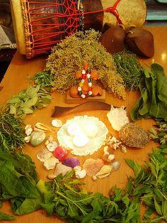 Altar to celebrate Ostara.