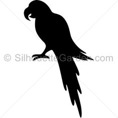 Parrot silhouette clip art. Download free versions of the image in EPS, JPG, PDF, PNG, and SVG formats at http://silhouettegarden.com/download/parrot-silhouette/