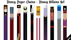 Disney Paper Chains - Villains Set | #100DaysOfDisney - Day 36 | Make It Monday