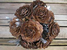 LOVE this!!! Woodland Wedding Bouquet  Silver Bridal Bouquet  by SeasonalBounty, $55.00