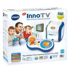 InnoTV: The new first-gaming system for kids 3-8 from vtech filled with games curated by a panel of educators and experts.