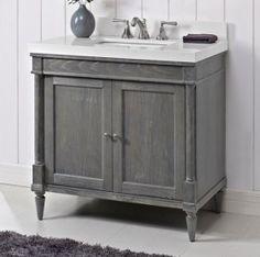 Rustic Chic 36 Vanity - Silvered Oak