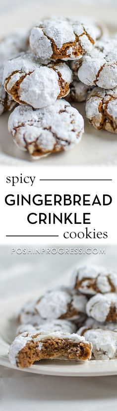 Here is a simple recipe for gingerbread crinkle cookies, just in time for the holiday season. These gingerbread crinkle cookies are easy to make and moist. #christmas #cookies #gingerbread