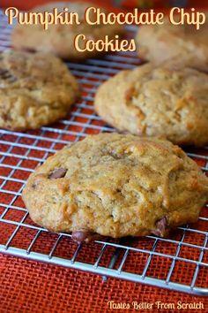 Tastes Better From Scratch: Pumpkin Chocolate Chip Cookies