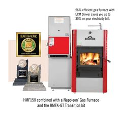 The hybrid HMF 150 Multi-Fuel furnace from Napoleon Products is one of the most efficient and cleanest combination solid fuel burning furnaces.