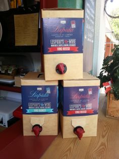Bag in Box natural wines from Castello di Lispida in situ in a local wine bar, space saving, environmentally friendly and delicious wines!