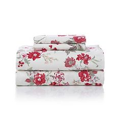 Product: LivingQuarters Heavy-Weight Tossed Floral Flannel Sheet Sets