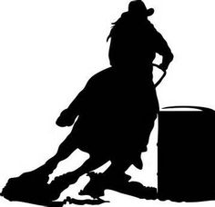 Barrel Racing Silhouette http://lakeffects.net/default.php?cPath ...